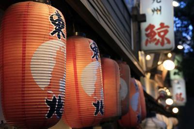 Japanese lanterns, Ginza district, Tokyo, Japan, Asia