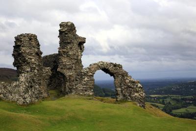 The ruins of Dinas Bran, a medieval castle near Llangollen, Denbighshire, Wales, United Kingdom, Eu by David Pickford