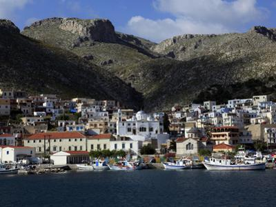 The Town of Pothia Seen from the Sea, Kalymnos Island, Dodecanese, Greek Islands, Greece, Europe by David Pickford