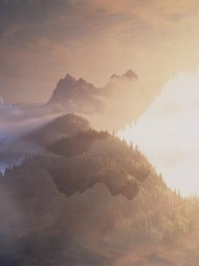 Jack Kerouac View of Mount Hozomeen from Desolation Peak, Washington by David Pluth