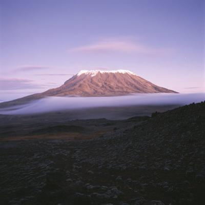 View of Snow-Capped Mount Kilimanjaro From Mawenzi Tarn by David Pluth