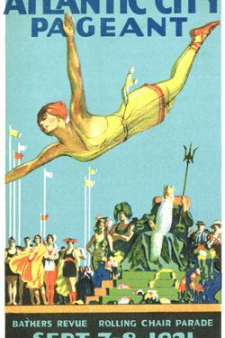 Atlantic City Pageant Poster by David Pollack