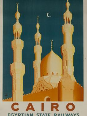 Cairo Egyptian State Ralwats Travel Poster Minarets by David Pollack