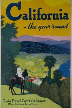 California the Year Round, Travel Poster by David Pollack