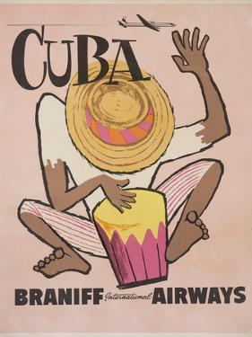 Cuba Braniff International Airways Poster by David Pollack