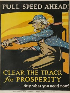 Full Spead Ahead, Clear the Tracks for Prosperity by David Pollack