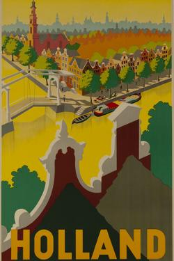 Holland Canal Travel Poster by David Pollack