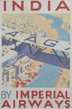 India by Imperial Airways Poster by David Pollack