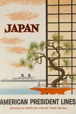 Japan American President Lines Cruise Poster by David Pollack
