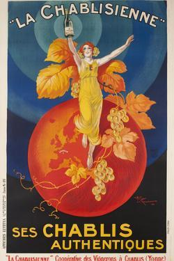 La Chablisienne, Ses Chablis Authentiques, French Wine Poster by David Pollack