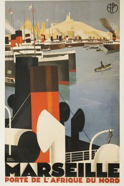 Marseille Travel Poster by David Pollack