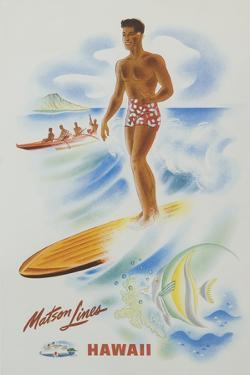 Matson Lines Hawaii Poster by David Pollack