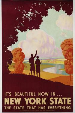 New York State Travel Poster by David Pollack