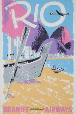 Rio Braniff International Airways Poster by David Pollack