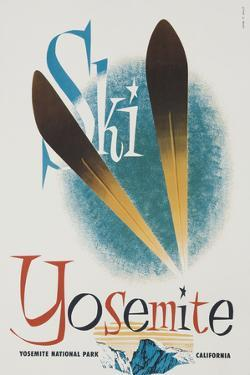 Ski Yosemite Travel Poster by David Pollack