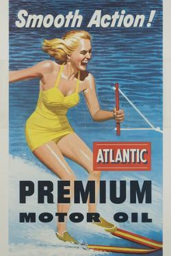Smooth Action! Atlantic Premium Motor Oil Poster by David Pollack