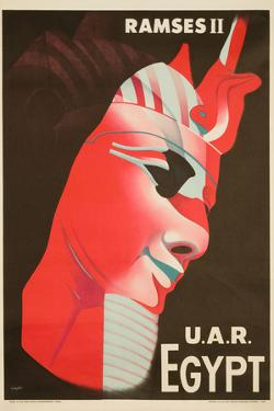 U.A.R. Egypt Poster by H. Hashem by David Pollack