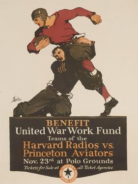 United War Work Fund, Harvard Radios Vs Pricneton Aviators by David Pollack
