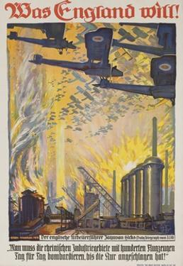 Was England Will (What England Will Do) German WWI Poster by David Pollack
