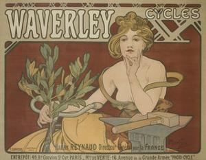 Waverly Cycles Advertising Poster by David Pollack