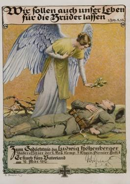 We Ought to Lay down Our Lives for Our Brothers, German WWI Poster by David Pollack