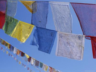 Buddhist Prayer Flags, Bodhnath, Kathmandu, Nepal, Asia by David Poole