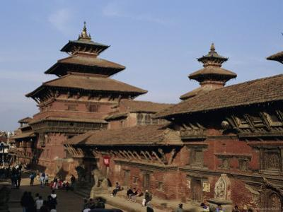 Durbar Square, Patan, Kathmandu Valley, Nepal, Asia by David Poole