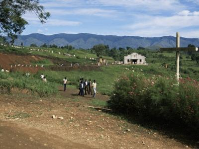 People Leaving Church on a Sunday, Fort Portal, Uganda, East Africa, Africa by David Poole