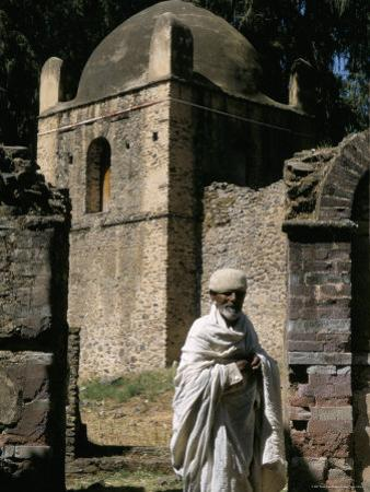 Priest Caretaker, Kuskuam (Kusquam) Church, Gondar, Ethiopia, Africa by David Poole