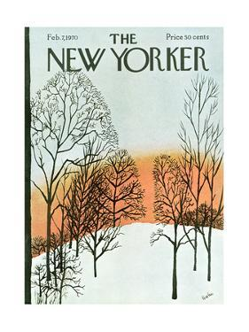 The New Yorker Cover - February 7, 1970 by David Preston