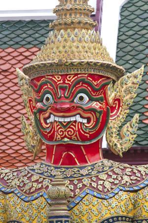 Buddhist Mythology Yaksa, Temple of the Emerald Buddha, Bangkok, Thailand