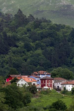Colorful Houses Near Las Rozas, Asturias, Spain
