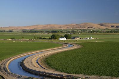 Farmland and Irrigation Canal Near Vale, Oregon, USA