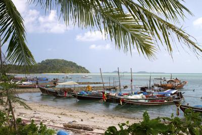 Fishing Boat in the Gulf of Thailand on the Island of Ko Samui, Thailand
