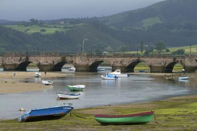 Fishing Boats at Low Tide, San Vicente De Al Barquera, Spain