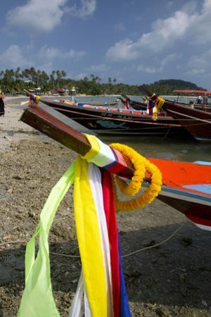 Fishing Boats in the Gulf of Thailand on the Island of Ko Samui, Thailand