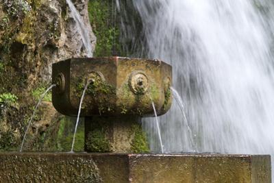 Fountain at the Holy Cave of Covadong, Asturias, Northern Spain