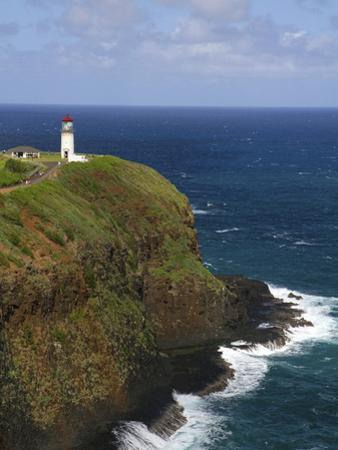 Kilauea Lighthouse Located on Kilauea Point on the Island of Kauai, Hawaii, USA