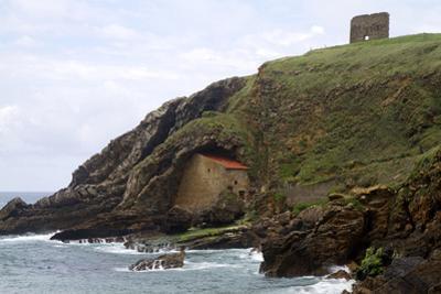 Santa Justa Beach and Old Monastery, Cantabria, Spain