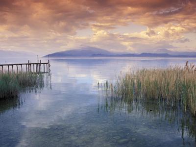 Scenic View from Shore, Lake Garda, Italy