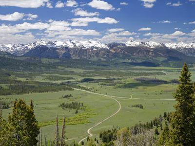 View of the Sawtooth Mountain Range from Galena Summit in Custer County, Idaho, Usa