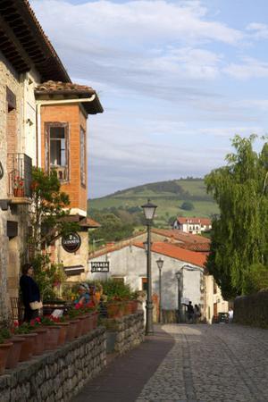 Walking Street in the Village of Santillana Del Mar, Cantabria, Spain