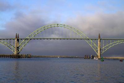 Yaquina Bay Bridge Spanning the Yaquina Bay at Newport, Oregon, USA