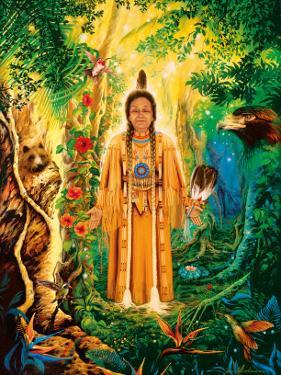 Native American Divine Grandmother by David Rico