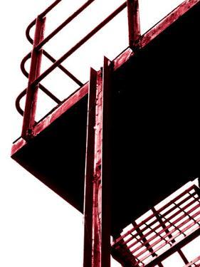 Red Fire Escape by David Ridley
