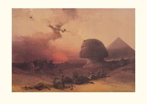 Approach of the Simoon, Desert of Gizeh by David Roberts