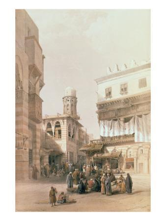 """Bazaar of the Coppersmiths, Cairo, from """"Egypt and Nubia"""", Vol.3"""