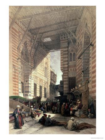 """Bazaar of the Silk Merchants, Cairo, from """"Egypt and Nubia,"""" Vol.3"""