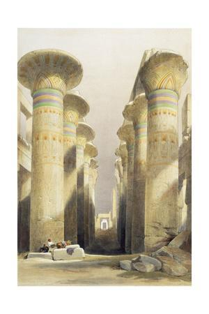 Central avenue of the Great Hall of Columns, Karnak, Egypt, 19th century