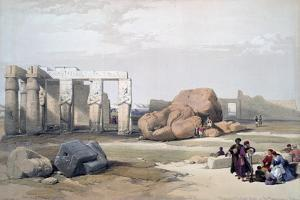 Fragments of the Great Colossi, at the Memnonium, 19th Century by David Roberts